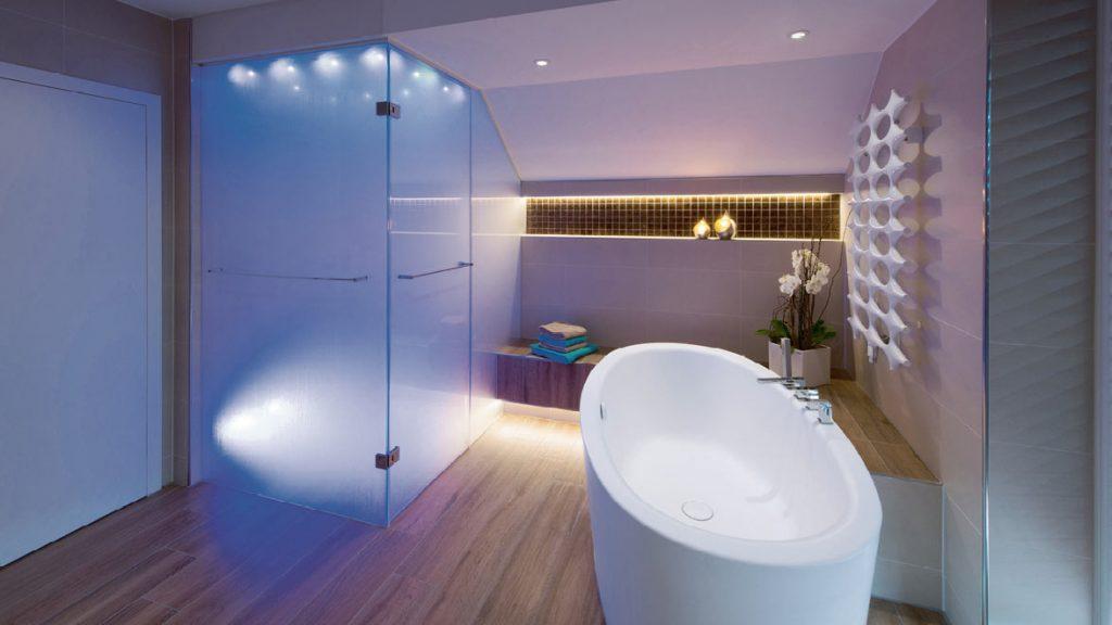 Die optimale Raumbeleuchtung im Bad.
